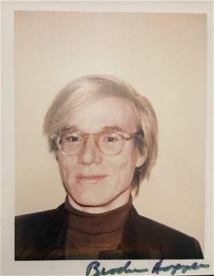 "Andy Warhol ""Andy Warhol, 1972"" Polaroid Print"