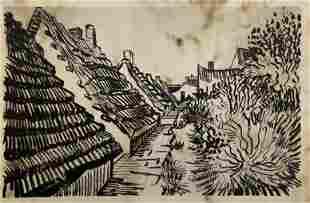 Vincent van Gogh Dutch Landscape Engraving