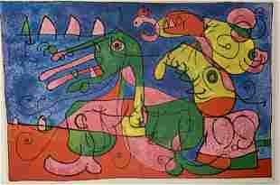 Joan Miro Print on Paper