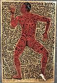 Keith Haring (Tony Shafrazi Gallery) Print Hand Signed