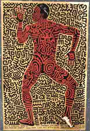 Keith Haring (Tony Shafrazi Gallery) Colored Print