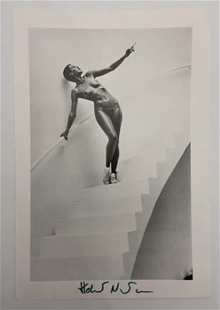 Helmut Newton Black and White Print Hand Signed