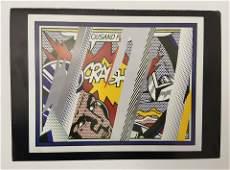Roy Lichtenstein Crash Card Hand Signed