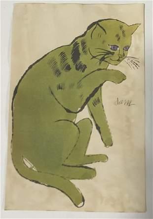 Sam The Cat Print