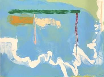 Helen Frankenthaler Skywriting Signed Screenprint 1997