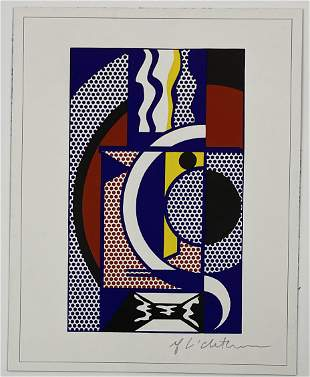 Roy Lichtenstein Hand Signed Print on Paper