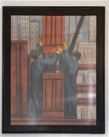 Diego Rivera - Pastel (w/Shell Oil Company Provenance)