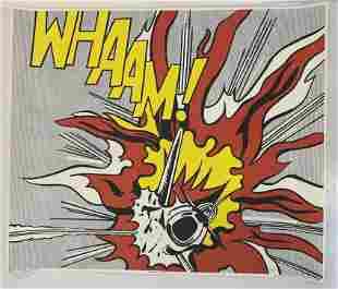 """Roy Lichtenstein """"WHAAM!"""" Hand Signed Print"""