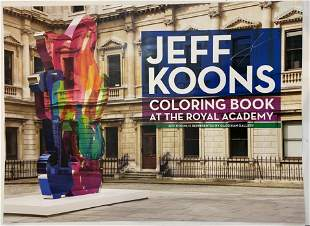 "Jeff Koons ""Gagosian Gallery"" Hand Signed Poster"