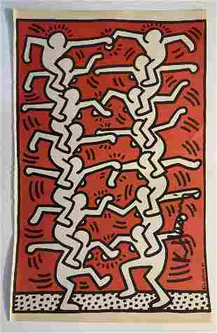 Keith Haring - Interview Magazine 1980s, Hand Signed