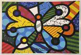Romero Britto - Butterfly (Signed Poster)