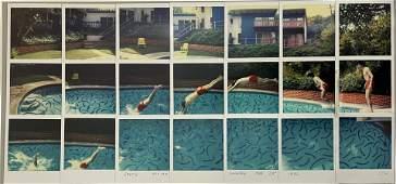 "David Hockney ""Swimming Pool"" Glossy Photographic Print"