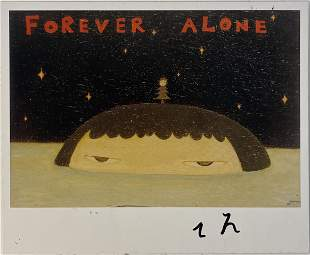 "Yoshitomo Nara "" Forever Alone"" Hand Signed Print"