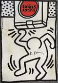 Keith Haring (Lucky Strike) Hand Signed Large Print