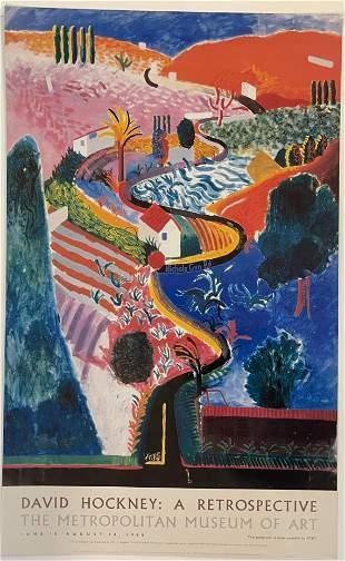 David Hockney - The Metropolitan Museum (Signed Poster)