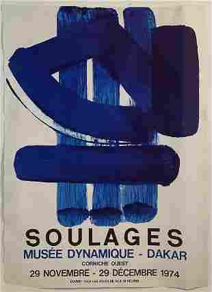 Pierre Soulages (Musee Dynamique-Dakar 1974) Poster
