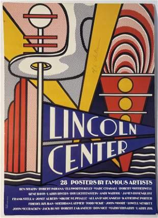 """Roy Lichtenstein """"Lincoln Center"""" Print Hand Signed"""