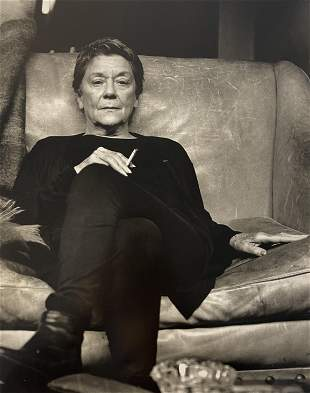 Helmut Newton (Maria Casares, French Vogue) Photo-Litho