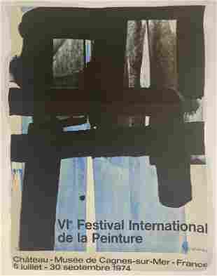Pierre Soulages (Festival International) Poster