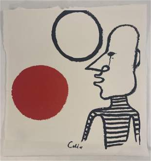 Alexander Calder Colored Print on Wove Paper