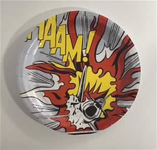 Roy Lichtenstein WHAAM Paper Plates (Lot of 4)