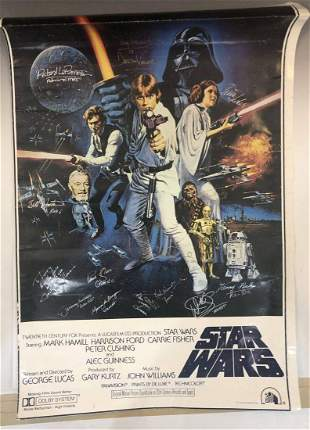 Star Wars Episode I Cast Signed Movie Poster