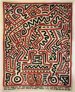 Keith Haring (Fun Gallery) Hand Signed Print in Colors