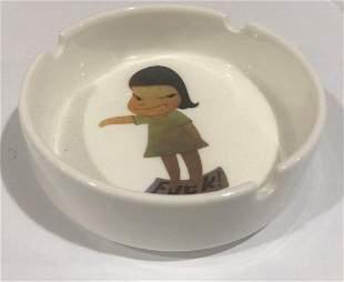 Yoshitomo Nara - Fuck, Glazed Porcelain (Ashtray)