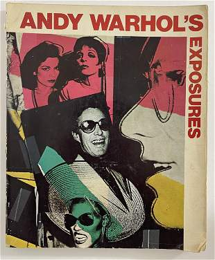 Andy Warhol Hand Signed Exposures Book