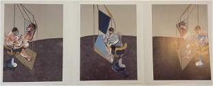 Francis Bacon (Triptych) Ink Signed Colored Print