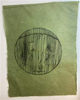 Unknown Artist -  Untitled - Woodcut