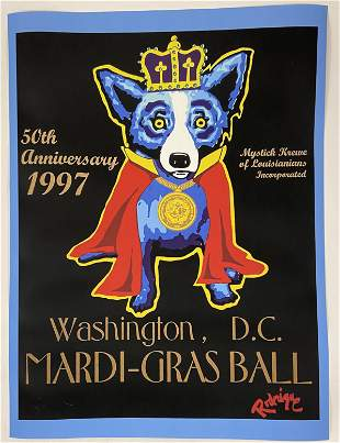 George Rodrigue - King Dog - Screenprint