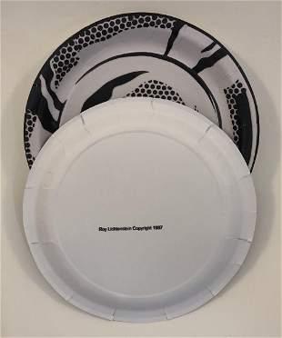 Roy Lichtenstein Black and White Plates (Lot of 6)