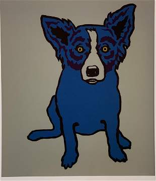 George Rodrigue Blue Dog Print in Colors
