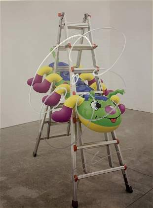 Jeff Koons (Caterpillar Ladder, 2003) Signed