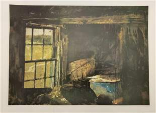 Andrew Wyeth Hand Signed Print in Colors