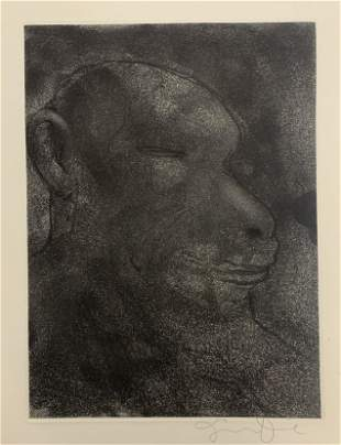 Jim Dine Hand Signed Etching