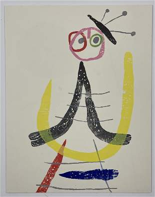 Joan Miro Unsigned Offset Lithograph