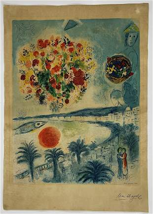 Marc Chagall, Hand Signed Print