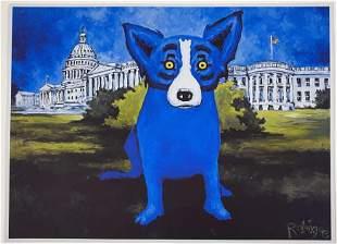 George Rodrigue Washington Blue Dog Poster