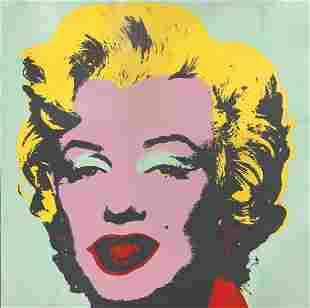 Andy Warhol Screenprint 1967 Marilyn Hand Signed