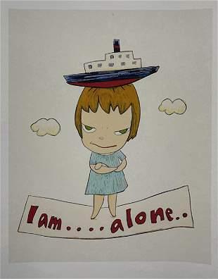 Yoshitomo Nara - I am.... alone.. - Print on Paper