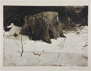 Andrew Wyeth - Wilderness - Hand Signed Offset Litho