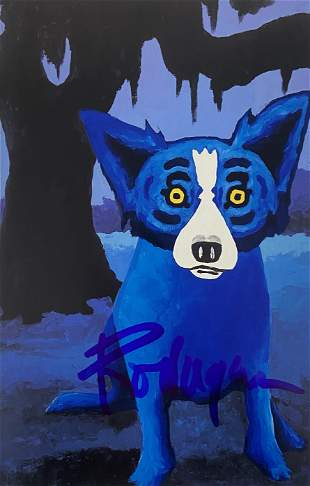 George Rodrigue - Blue Dog Print - Hand Signed