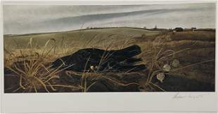 Andrew Wyeth Pencil Signed Offset Lithograph