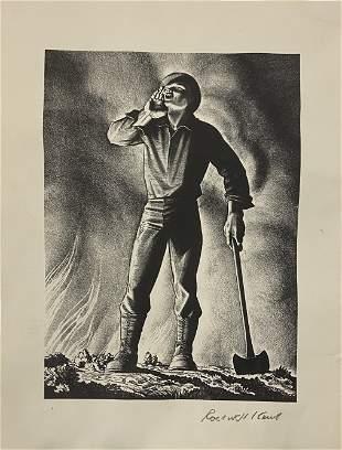Rockwell Kent (Labor) Pencil Signed Gravure Print