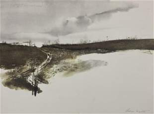 Andrew Wyeth - Landscape - Hand signed Print