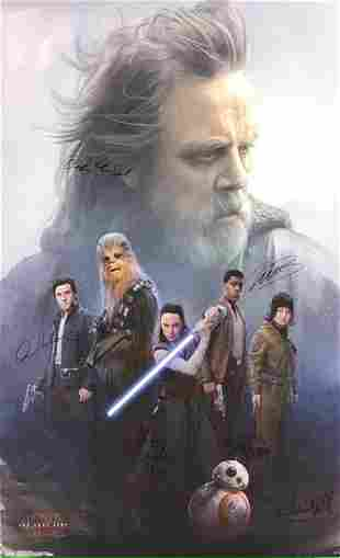 Star Wars (The Last Jedi) Signed Movie Poster