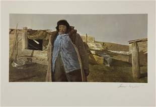 Andrew Wyeth (Untitled) Signed Offset Litho