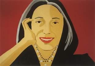 Alex Katz - Portrait of a Woman Lithograph